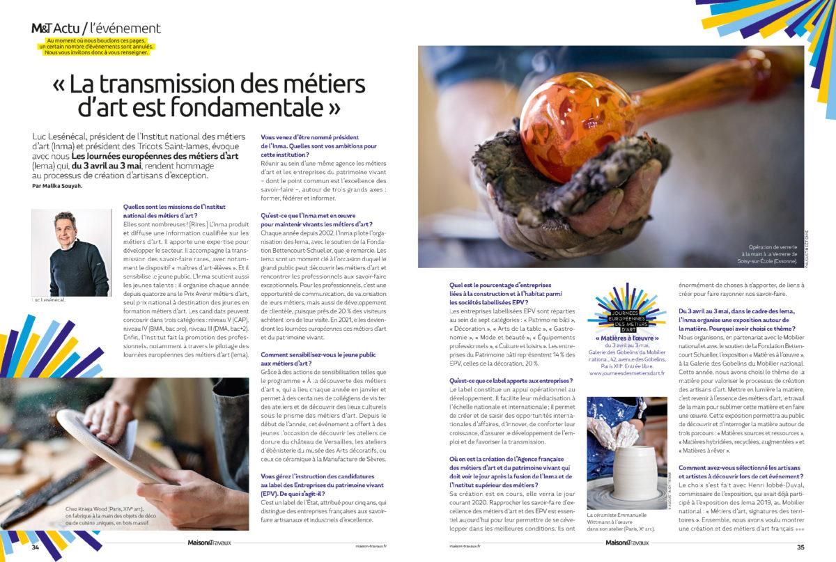 Interview Luc Lesénécal